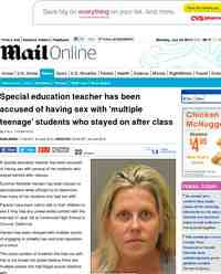 Summer Michelle Hansen  Special education teacher accused of having    Summer Michelle Hansen
